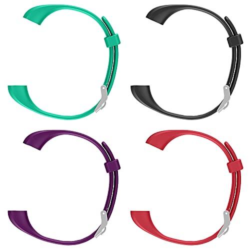 ENGERWALL Braccialetto di Ricambio(Verde+Nero+Viola+Rosso), solo per ENGERWALL Fitness Tracker