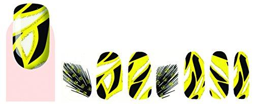 Faux ongles stickers vernis adhésif ethnique plumes