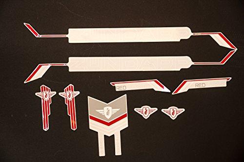 Zündapp Fahrrad Dekor Satz Aufkleber Rahmen Schriftzug Sticker Zündapp Frame Decal