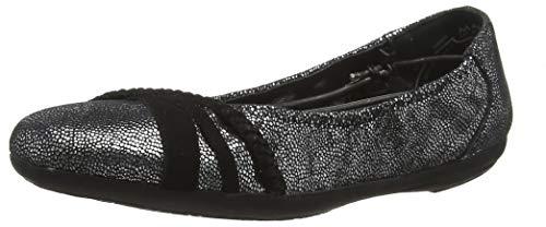 Marc Shoes Damen Janine Geschlossene Ballerinas, Grau (Goat Suede Silver 00833), 36 EU