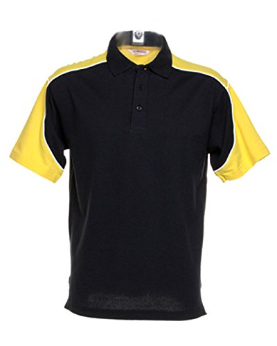 FORMULA RACING - Polo - Homme - Multicolore - Black/Yellow/White - Large