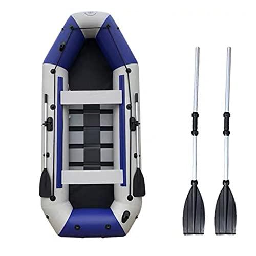 LANHA 2 Personas Barca Hinchable, Kayak Hinchable con Remos Y Bomba Barco De Pesca Inflable De PVC Kayak Inflable Espesar Y Plegable Bote Inflable (6 Tamaños)