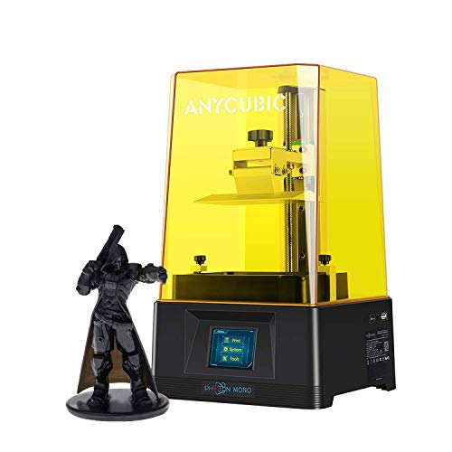 """ANYCUBIC Photon Mono Resin 3D Printer with 2.5X Fast Printing and 6.08'' 2K Monochrome Screen, Printing Size 5.11""""(L) x 3.14""""(W) x 6.49""""(H)"""