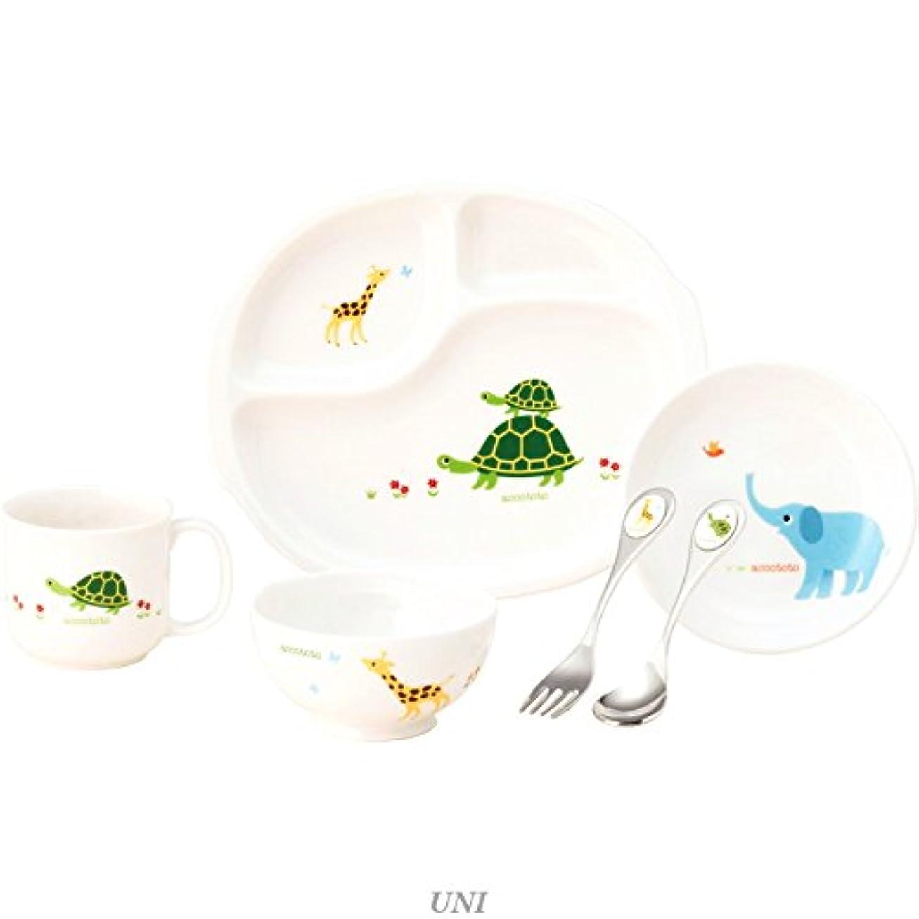 分解する消費する正確にニッコー 子供食器 アッコトト はじめてのごはんセット(ランチ皿、ライスボール、深皿、マグ) 8200-KS04C
