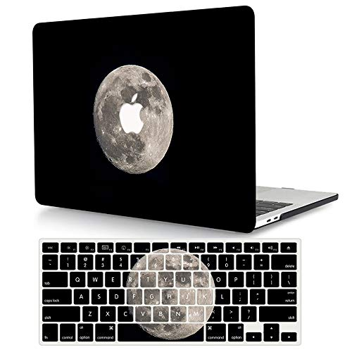 ACJYX Hard Case & Keyboard Cover Compatible with MacBook Pro Retina 13 inch 2015 2014 2013 end 2012 Models A1502 A1425, Protective Plastic Hard Shell Laptop Cover - Moon