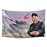 Room Funny Flag 3x5 Feet Live Laugh Love Flag Kim Jong Un Banner for Dorm Decor College Parties