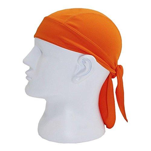 ILOVEDIY Bandana Moto Homme Femme Cyclisme Vélo Anti UV Bandeau Sport Echarpe Foulard Casque Bonnet Casquette (Orange)
