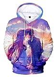 WANHONGYUE Anime Sword Art Online Kirito Sao Hoodie Sudadera con Capucha Cosplay Disfraz 3D Impreso Pullover Suéter con Bolsillos Cordón 5 S