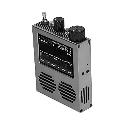 Qinyayoa Receptores De Reducción De Ruido DSP, Receptor De Radio De 300 MA 50 KHz-2 GHz Pantalla IPS De 3,5 Pulgadas para Cine En Casa para Estudio De Grabación
