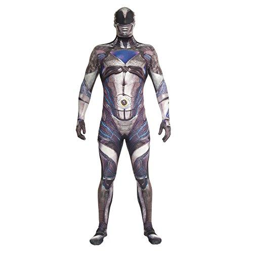 Morphsuits Men's Power Rangers, Black Deluxe, XX-Large
