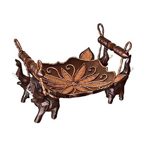 William 337 Tot op heden Fruit Tray, Europese Retro Mango Hout Creatieve Thuis Koffietafel Decoratieve Fruit Plate Dienst dienblad