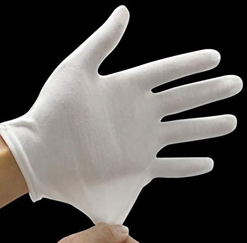 guanti cotone Kitchen-dream 15 paia di guanti in cotone bianco