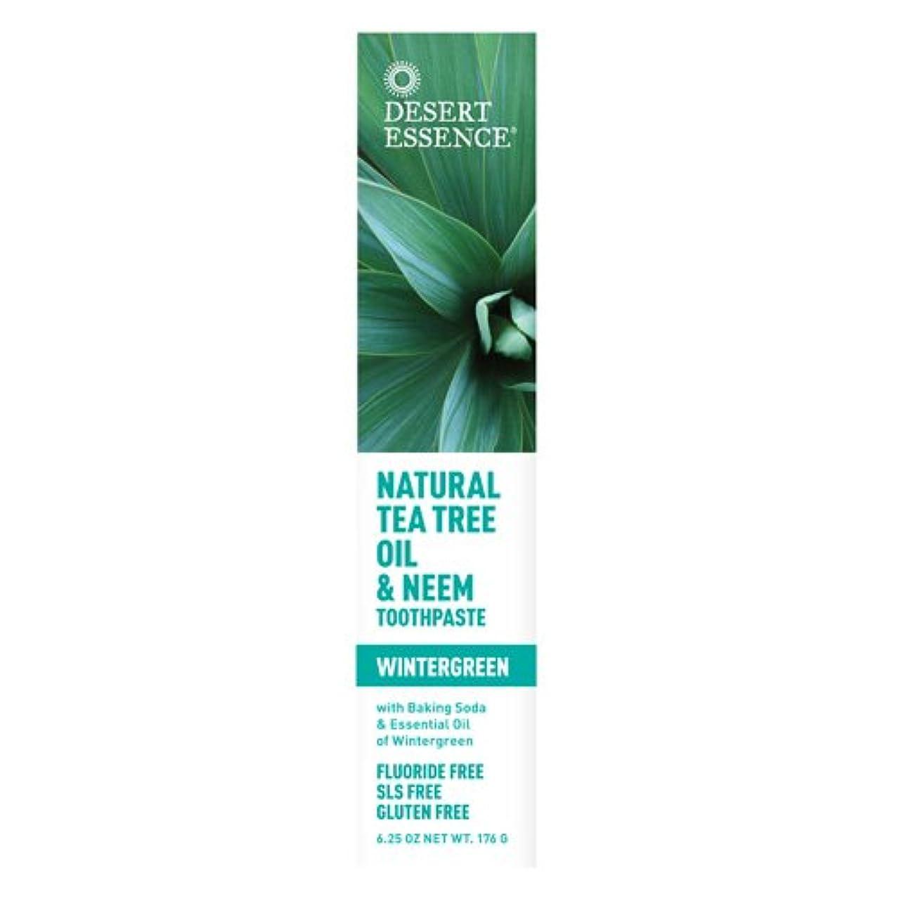 喉が渇いたシャーロットブロンテ逃すDesert Essence, Tea Tree Oil & Neem Tooth Winter 6.25 oz