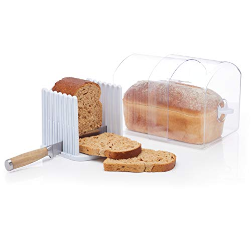 Kitchen Craft Expanding Stay Fresh Bread Keeper, Bread Bin...