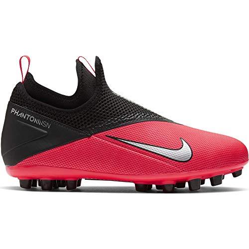 Nike Phantom Vision 2 Academy DF AG, Zapatillas de Fútbol Unisex Niños, Rojo (Laser Crimson/Metallic Silver/606), 32 EU