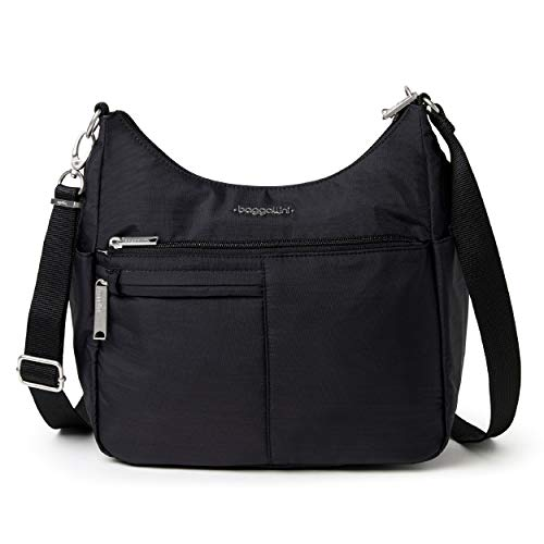 Baggallini womens Anti-Theft Free Time Crossbody Bag, Black,One Size