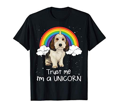 Arcoiris Mágico Unicornio Grifón Vandeano Basset Pequeño Camiseta