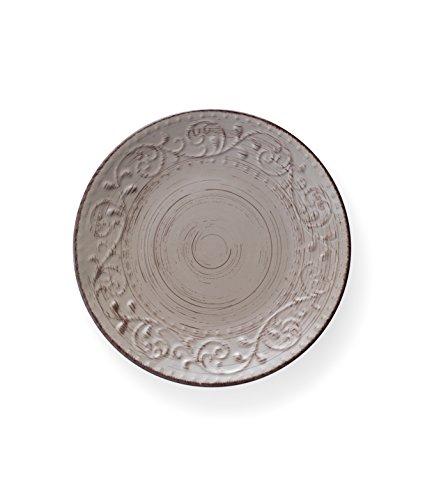Brandani 55967 piatto piano sabbia Serendipity stoneware diametro cm 27,5