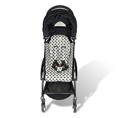 Fundas BCN® F191/9399 - Colchoneta para BabyZen Yoyo + Cubre Arneses - Estampado Fun Black Star