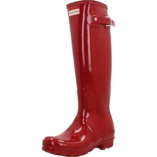 Botas para Mujer, Color Rojo, Marca HUNTER, Modelo Botas para Mujer HUNTER Original Tall Gloss Black Rojo