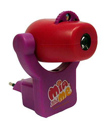 Joy Toy Mia and Me luz nocturna-lámpara de proyección para habitaciones, 7 x 9 x 8,5 cm con 14 x 9 x 19 cm 118094