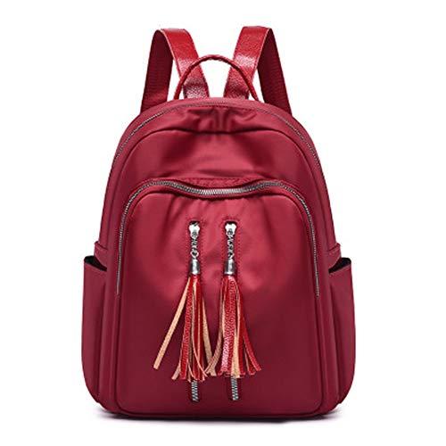BAGLOVER Bolsos Mochila para Mujer Chica Adolescente Casual Impermeable Nylon Colegio Viajar Trabajo (Rojo)