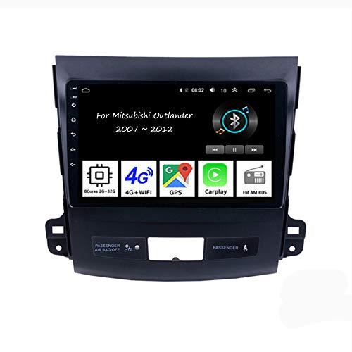 Autoradio Android Car Radio Stereo 9 Pulgadas Pantalla Táctil para Mitsubishi Outlander XL 2 2005-2011 4 Cores 2G+32G Conecta Y Reproduce Cámara De Respaldo Estéreo De Coche Auto DVD Player
