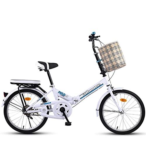 Bicicletas Plegables Bicicleta Plegable Portátil, 20 Pulgadas Bicicleta Al Aire Libre para Adultos Suspensión para Estudiantes Bicicleta De Montaña Parque Bicicleta De Viaje Bicicleta De Ocio Al Aire