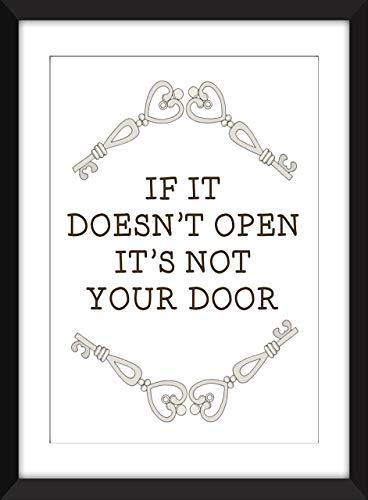 If It Doesn't Open It's Not Your Door - Unframed Print/Ungerahmter Druck