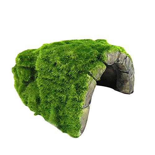 OMEM Reptile Hide, Tortoise Hide cage, Artificial Plant Rock, humidified Habitat Decoration (A)