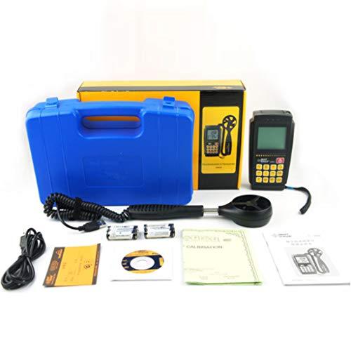 Estaciones meteorológicas portátiles Anemómetro digital / volumen de aire con pantalla LCD y retroiluminación Anemómetro digital Portátil LCD Viento electrónico Velocidad del aire Medidor de medición