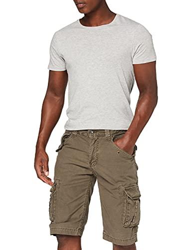 Schott NYC Trbatle30pkr Pantaloncini da Bagno, Verde (Olive Olive), W33 (Taglia Produttore: 33) Uomo