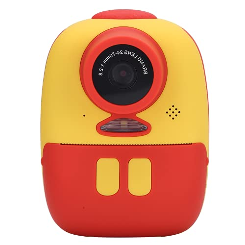 Instant Print digitale kindercamera, draagbare digitale kindercamera met dubbele lens voor thuis voor op reis