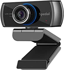¡¾Full HD 1080P Streaming Webcam¡¿Full high definition 1080p/30 fps web camera record vibrant HD video clips that capture the smallest details.Perfect for streaming on social media and gaming. ¡¾Webcam With Microphone For Laptop¡¿Built-in dual noise-...