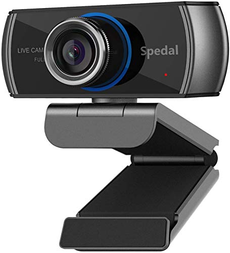 Webcam with Microphone,1080P HD USB Computer Camera [Plug and Play] for Laptop,Desktop,Streaming Web Cam for Skype,YouTube,Zoom,Facetime,Team,OBS,and Conferencing,Teaching,Calling,Recording,Gaming