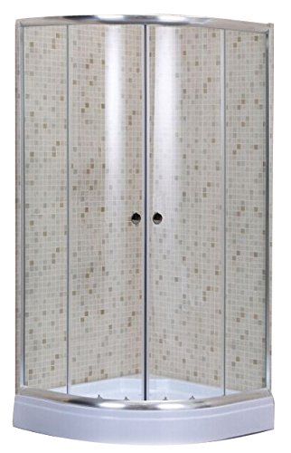 CABINA BOX DOCCIA ALBATROS 80X80 SEMICIRCOLARE ANGOLARE CRISTALLO MM.5