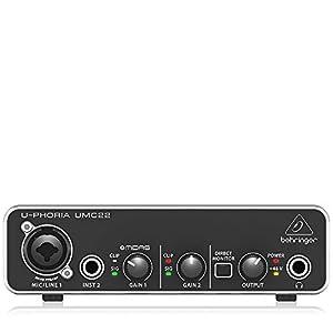 ベリンガー 2入力2出力 USBオーディオインターフェース UMC22 U-PHORIA