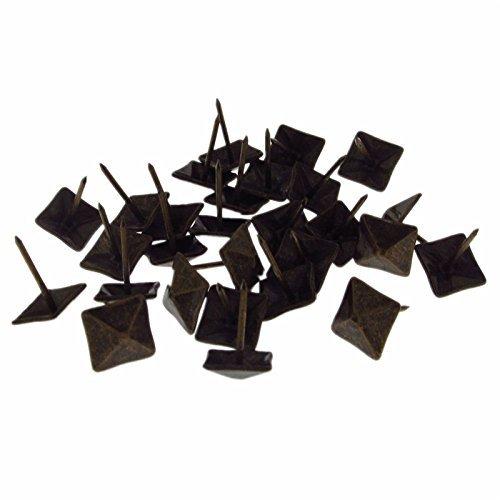Pxyelec Polsternägel, quadratisch, Vintage-Stil, 14 x 20 mm, 50 Stück