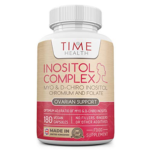 Inositol Complex | 180 Capsules | Myo & D Chiro-Inositol, Folate & Chromium | 40:1 Ratio | Quatrefolic | Vegan | UK Made | Additive Free (180 Capsule Bottle)
