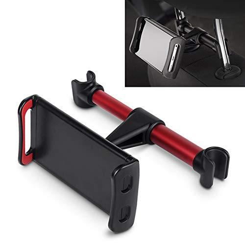 Cunas de automóviles para teléfonos móviles Asiento trasero del coche reposacabezas Soporte de montaje, for el iPad Tablet PC, for Acura Chevrolet Cruze Aveo Peugeot 307 308 Asiento (Color : Red)