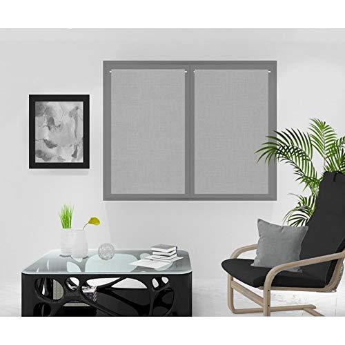 Soleil d'ocre Rideaux Brise-bise, Gris, 60 x 120 cm