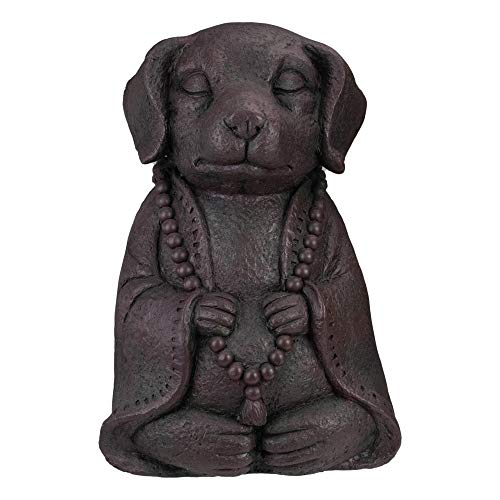 Northlight 17' Dark Gray Meditating Buddha Dog Outdoor Garden Statue