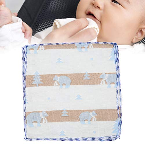 Toalla De Cara Para Bebé, Cómoda Y Suave Que No Ocupa Espacio, Babero Para Bebé Seguro Y Saludable, Institución De Entrenamiento Para El Hogar(Oso polar azul)