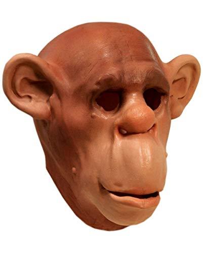 Horror-Shop Realistische Schimpansen Maske aus Schaumlatex