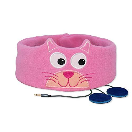 Snuggly Rascals (v.2) Kinder-Kopfhörer, Ultra-bequem, größenverstellbar und mit begrenzter Lautstärke (Vlies, Kätzchen)