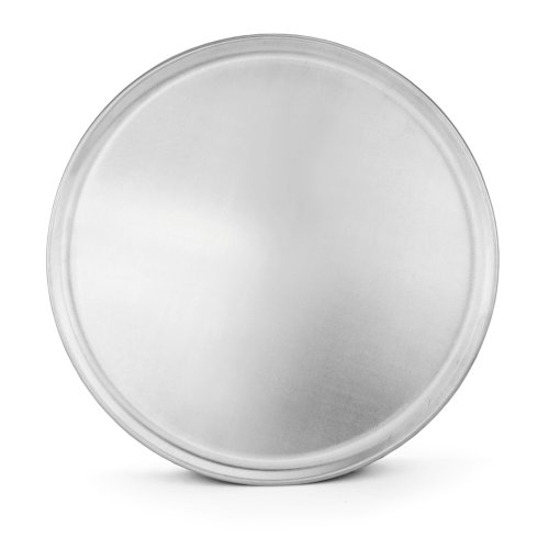 New Star Foodservice 51049 Restaurant-Grade Aluminum Pizza Pan, Baking Tray, Coupe Style, 16-Inch, Pack of 6
