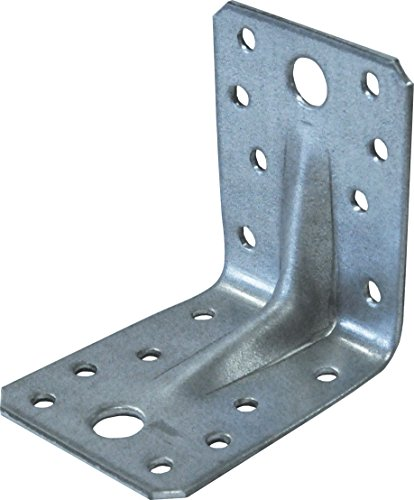 rinforzata in acciaio zincato Angolo Staffe ad angolo Brace Confezione da 5070x 70mm