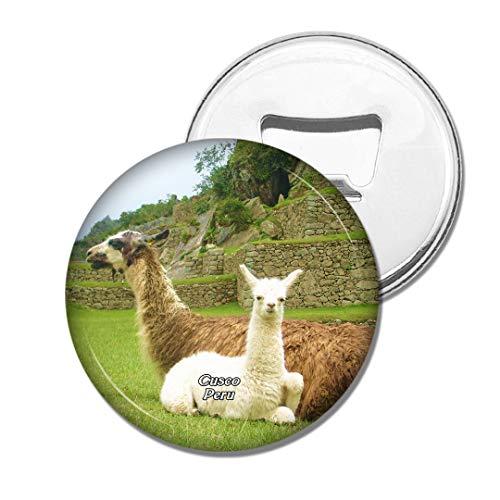 Weekino Alpaka Machu Picchu Cusco Peru Bier Flaschenöffner Kühlschrank Magnet Metall Souvenir Reise Gift