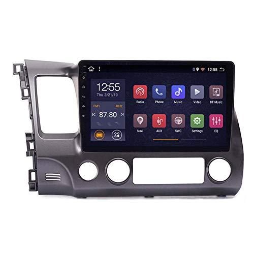 ZWDSDD Android 8.1 Radio para Automóviles para Honda Civic 2006-2011 Coche Estéreo GPS Navegación Táctil Pantalla Player Doble DIN Head Unit Support WiFi Control De Volante(Color:4G+WiFi:1+16G)