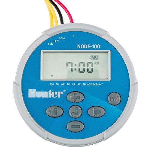 Hunter Industries NODE-100-LS Hunter Node 1-Station (DC-Magnetspule nicht im Lieferumfang enthalten) Batteriebetriebener Bewässerungsregler, grau